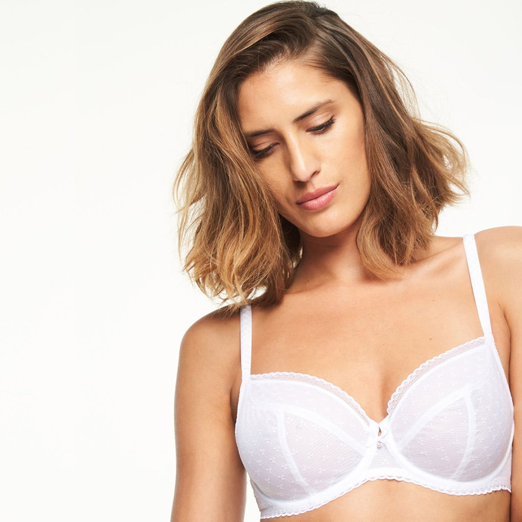 Chantelle Plunge Bh Courcelles White
