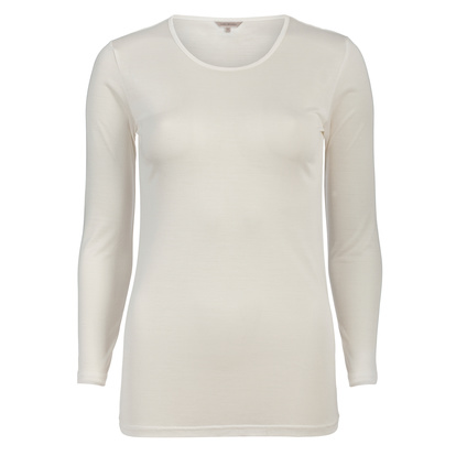 Lady Avenue Silk Jersey T-shirt Off-white