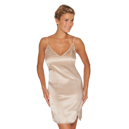 Lady Avenue Silk Stretch Slip Nattlinne Sand