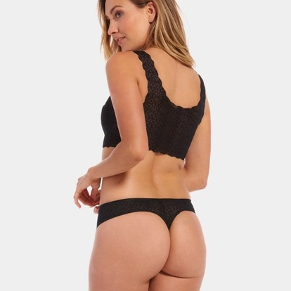 Dream Thong Lace Blush Black 2-pack