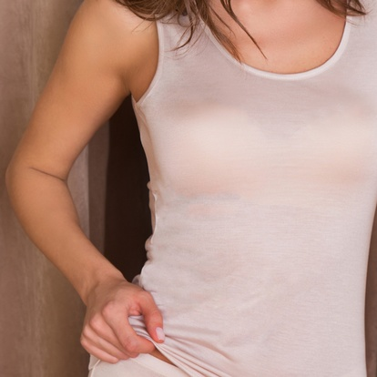 Lady Avenue Silk Jersey Tank Top Skin