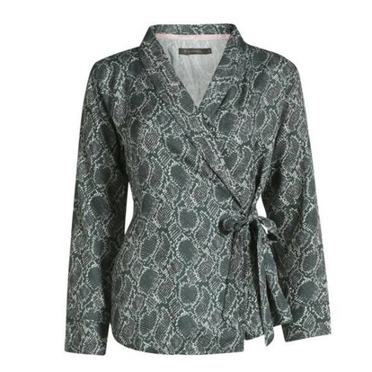 Essenza Satin Blus Omlott Snake Green