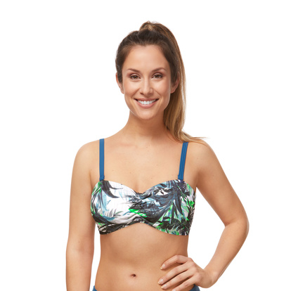 Amoena Bandeau Modern Jungle Leafy Green