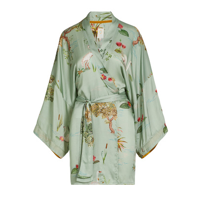 Pip Studio Kimono Noon Swan Lake Big Light Green