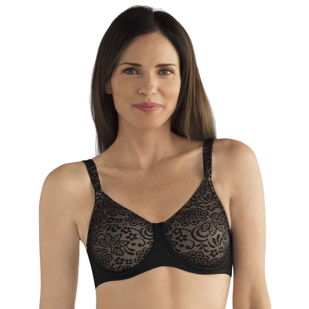 Amoena Protes BH Bygel Annette Black Nude 80 C